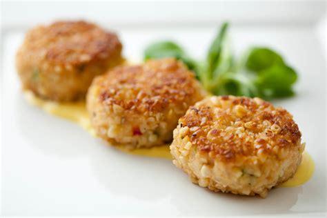 mini recipes mini crab cakes with dijon and scallions recipe dishmaps