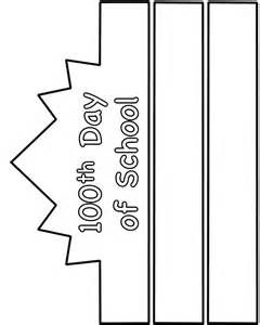 100th Day Crown Template by 100th Day Of School Hat Paper Craft Black And White