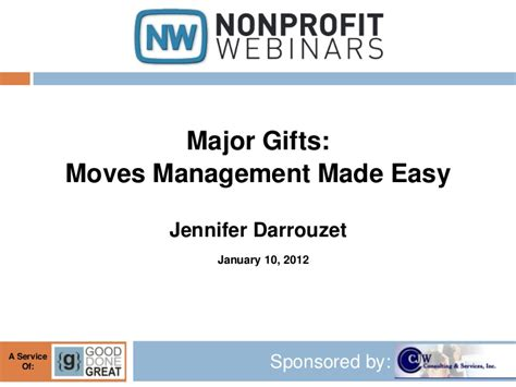 major gifts moves management made easy