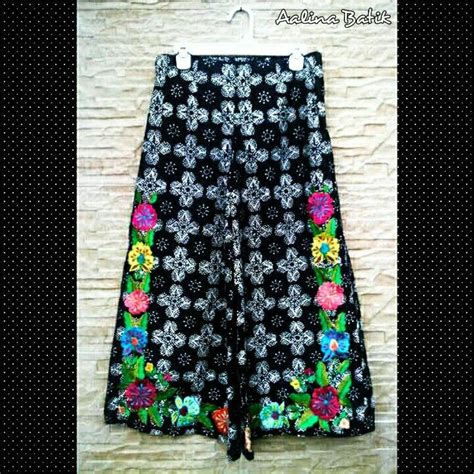 Celana Bordir Flowers 52 best batik celana kulot batik images on