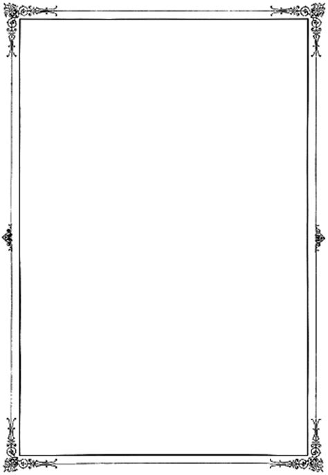 Full-page border with hearts and moons