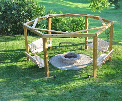 swing fire pit plans porch swing fire pit
