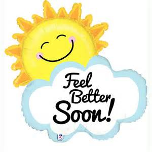 better smile feel better soon sun and cloud uninflated