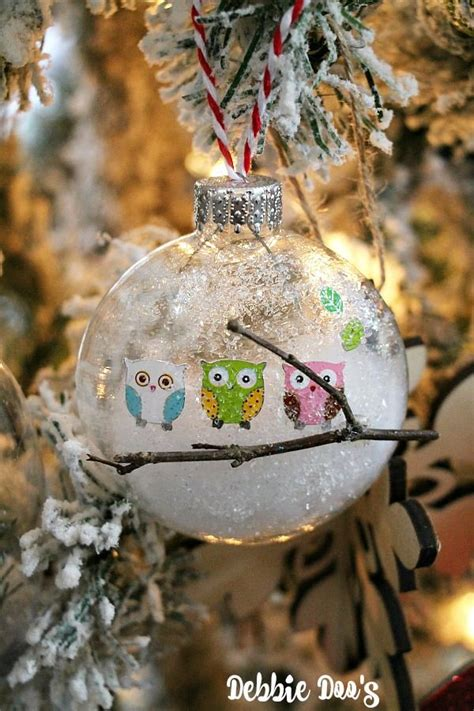 diy glass owl ornaments mod podge rocks pinterest