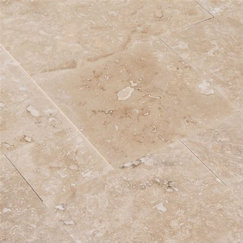 izmir travertine tile honed and filled light beige commercial mini pattern honed and