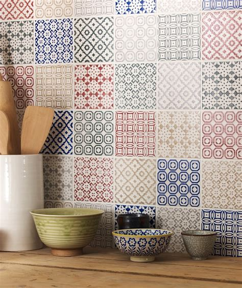 batik design tiles top 15 patchwork tile backsplash designs for kitchen