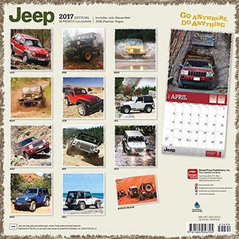 jeep calendar square photo new 2017 jeep wall calendar jeep gear mods