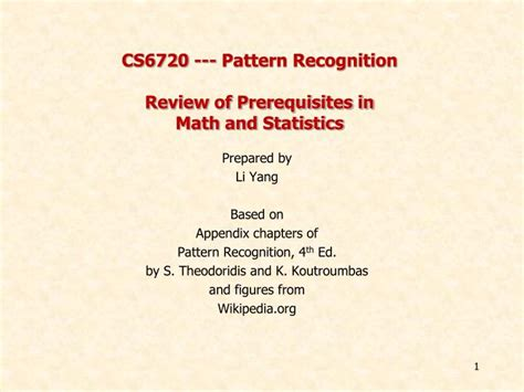 pattern recognition summary ppt cs6720 pattern recognition review of