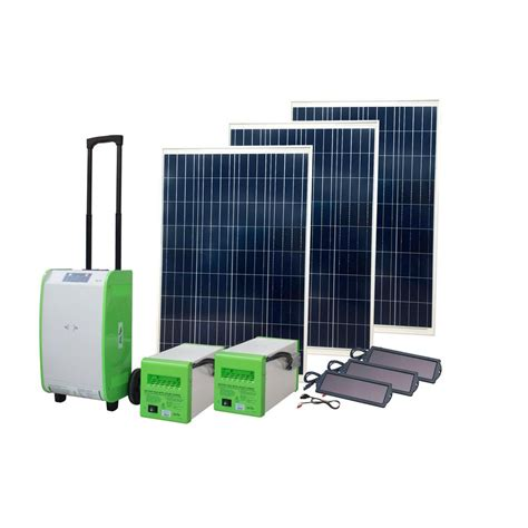 Lu Emergency Solar nature power 1 800 watt indoor outdoor portable grid
