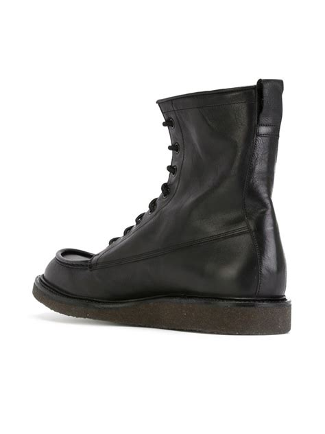 by common projects boots common projects lace up leather combat boots in black for