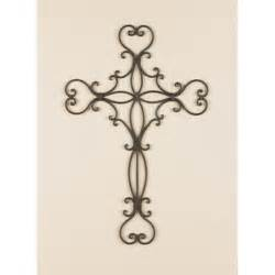 Decorative Crosses For The Home Decorative Metal Wall Crosses Wall Decor Home Accents Scrolled Wrought Iron Metal Wall