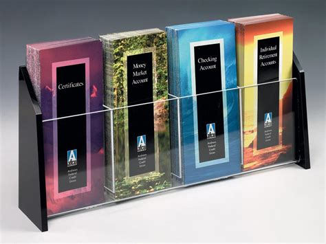 modern brochure display multi pocket flyer holder