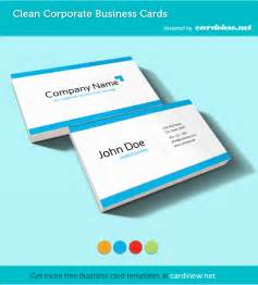 Business Cards Free Templates by Free Corporate Business Card Psd Template