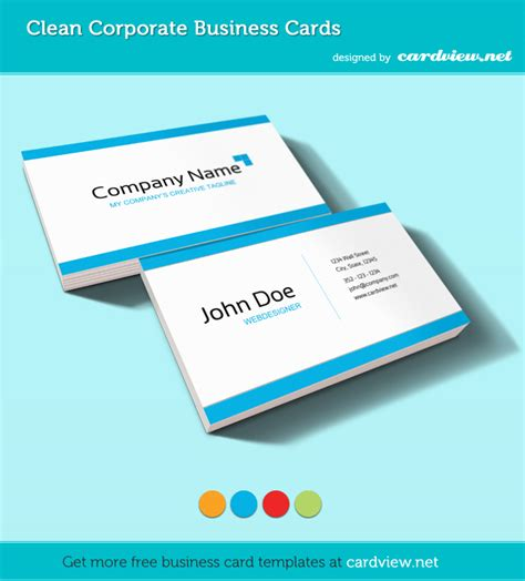 Templates Business Cards Free free corporate business card psd template