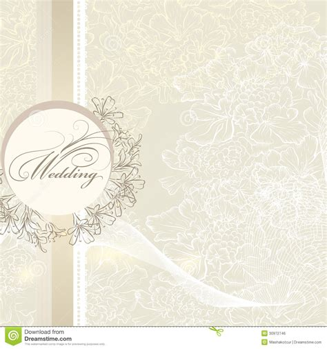 classic wedding card template wedding invitation card with banner and flowers