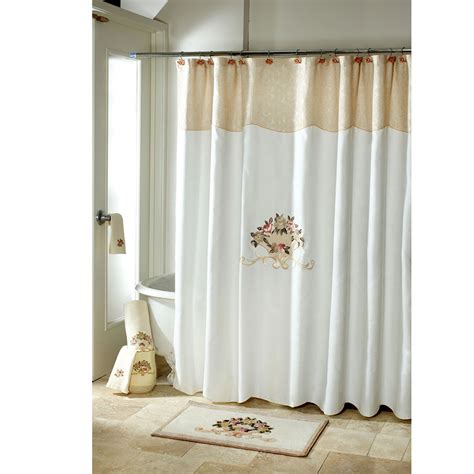 avanti shower curtain avanti rosefan shower curtain from beddingstyle com