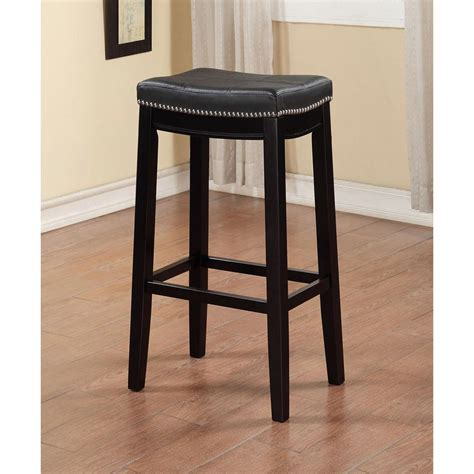 linon home decor bar stools linon home decor claridge 30 in black cushioned bar stool