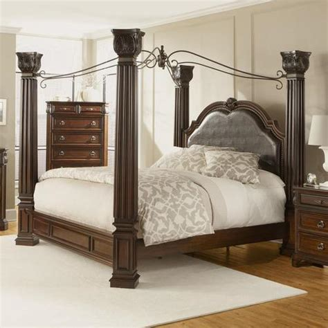 Lifestyle Furniture Bedroom Sets Lifestyle Corinthian Traditional California King Canopy Bed