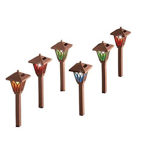 solar color changing path lights set of 6 walmart