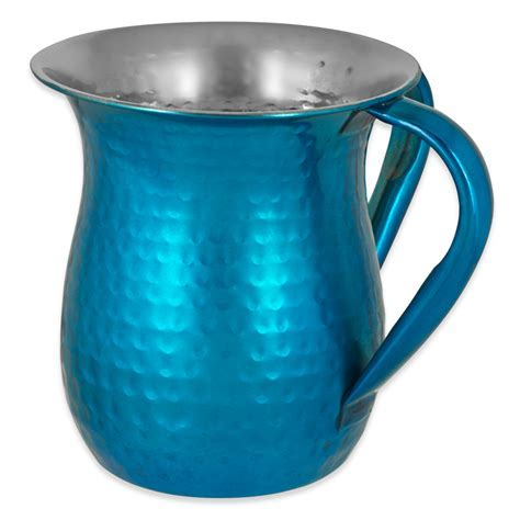 Jewish Gifts  Turquoise Stainless Steel Wash Cup