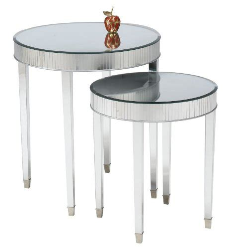 discount accent tables set of 2 mirror top cinema round end tables cheap price
