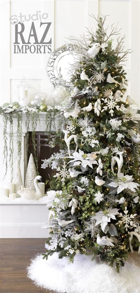 white christmas decorations studio raz imports 2007