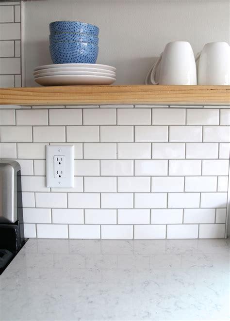 white subway tile backsplash for the backsplash i went classic with a simple 2 x 4