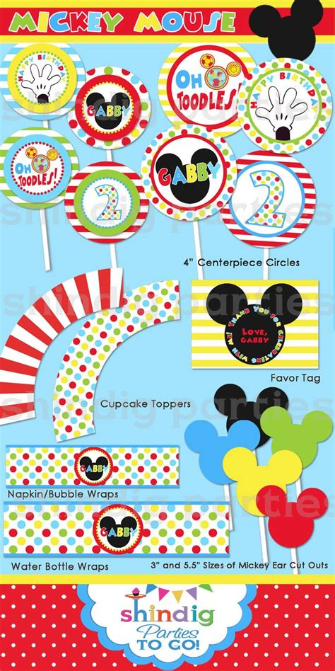 mickey mouse clubhouse printable birthday decorations mickey mouse party printables party ideas for kids