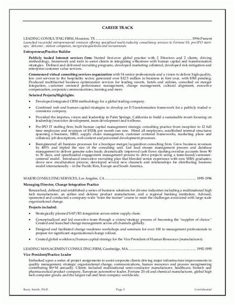 Resume Templates For Executives by Executive Resume Exles The Knownledge