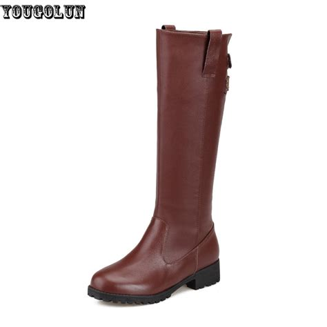 cheap flat boots 20 get cheap flat leather thigh high boots