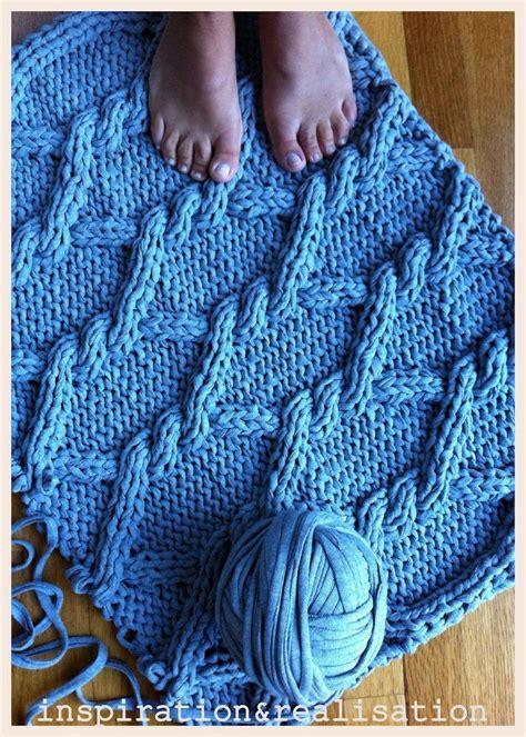 diy knit rug inspiration and realisation diy home diy knitted