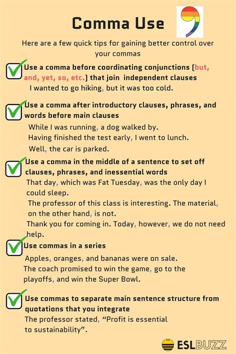 middle school writing how to use the comma pragmaticmom
