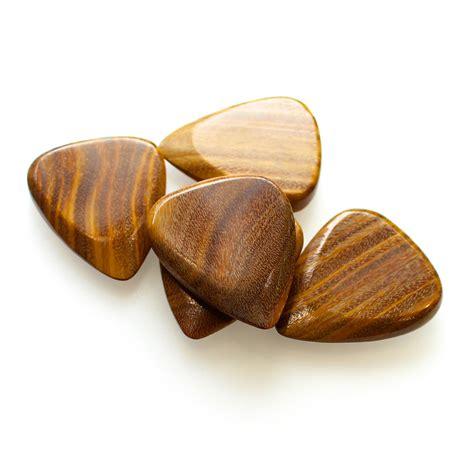 timber tones fat lignum vitae guitar picks timber tones