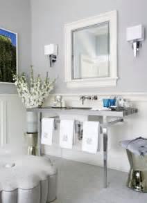 light grey wall paint bathroom wainscoting transitional bathroom jennifer