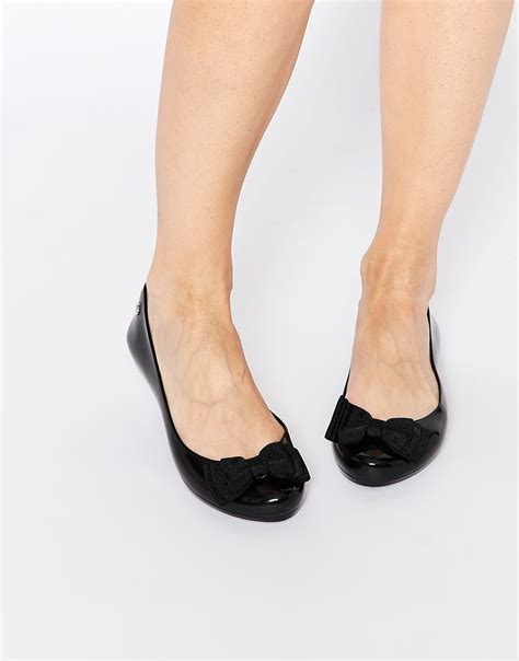 mel flat shoes mel by pop ribbon flat shoes in black lyst
