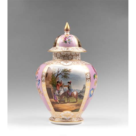 Dresden Vase 19th c dresden helena wolfsohn vase with cover from
