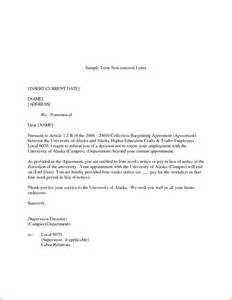 Business Letter Non Renewal Of Contract Pin Application Letter For Renewal Of Employment Contract