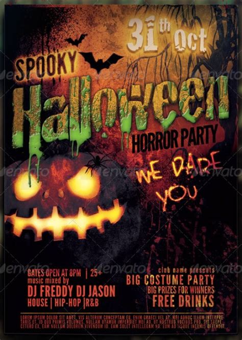 templates for halloween flyers 20 halloween flyer templates for halloween party events