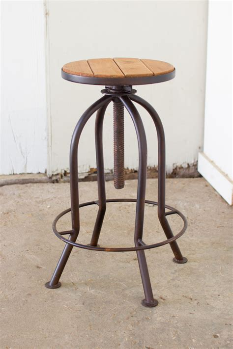 recycled bar stools adjustable rustic finish bar stool with recycled wood