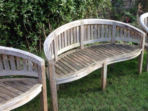 curved garden benches wooden curved wooden benches in from the vintage garden company