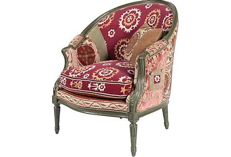 suzani armchair vintage suzani armchair pillow