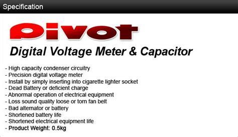 Pivot V Capa Voltage Meter pivot v capa voltage meter in built end 1 7 2018 11 59 pm