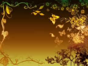Golden butterflies frame free ppt backgrounds for your powerpoint