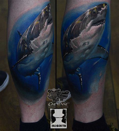 great white shark tattoo best tattoo ideas gallery