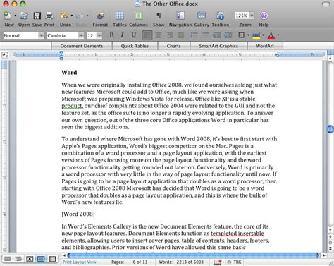 word layout one page word the other office microsoft office 2008 for mac review