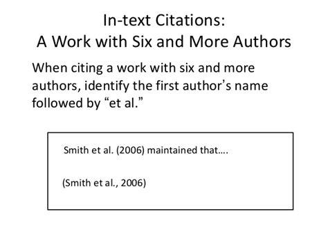 apa format et al citation referencing skills