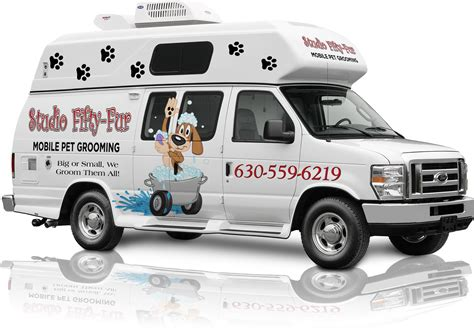 mobile groomer studio fifty fur mobile grooming let the groomer come to