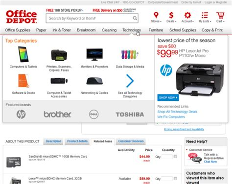 Office Depot Website by Killing The Global Navigation One Trend To Avoid
