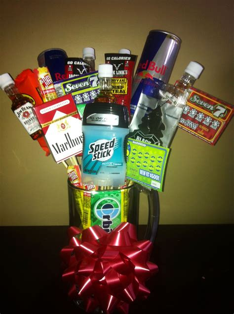 guy gift   cigarettesgross   alcohol  hes  rainy day crafts