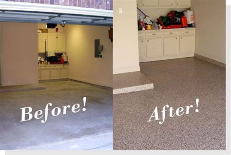 before and after epoxy garage floor glenview aardvark